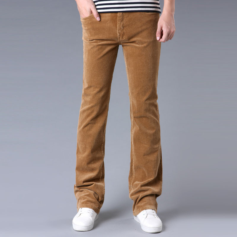 Jeans Leg-Pants Corduroy-Trousers Stretch Korean-Version Men's Casual The Wide And of