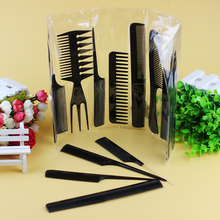 10pcs/Set Professional Hair Brush Comb Salon Barber Anti-static Hair Combs Hairbrush Hairdressing Combs Styling Tools Hair Care все цены