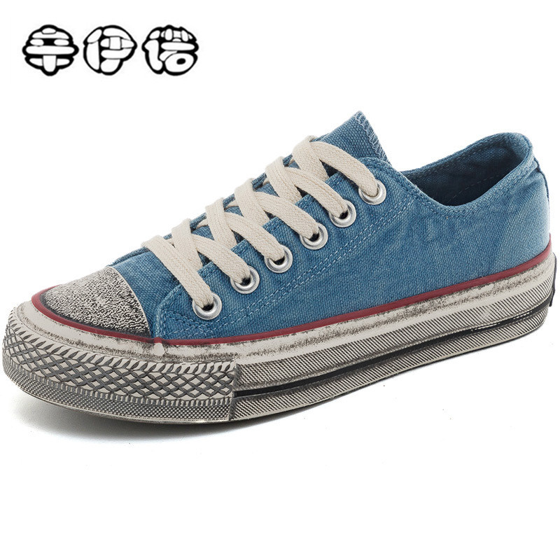 New Canvas Sneakers Shoes Woman Do Old Shoes Jean Sneakers Women Flats Chunky Sneakers Platform Trainers Footwear 40