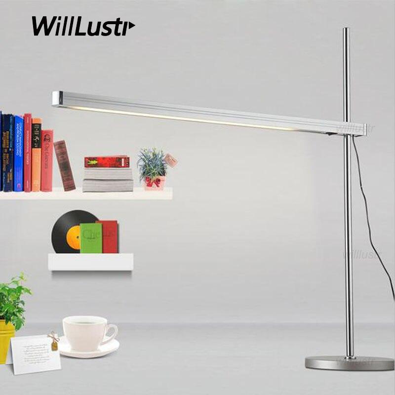 TALAK TAVOLO светодиодный настольная лампа настольная освещения Офис Кабинет свет стол минимализм огни современный минималистичный дизайн лине...