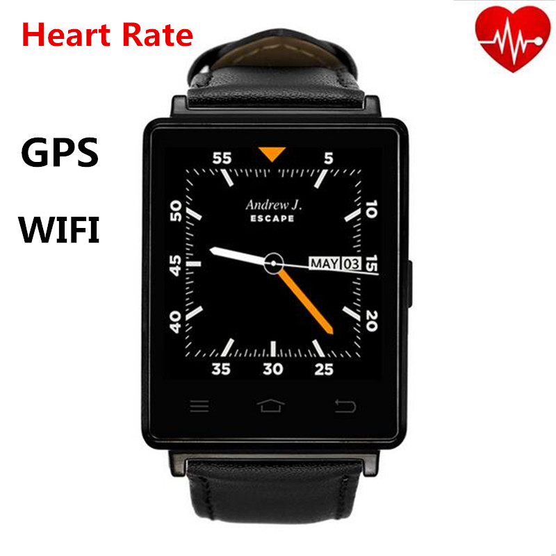 D6 Smartwatch 1GB RAM 8GB ROM 3G WIFI Bluetooth Android Smart Watch Phone With GPS HeartRate Monitor FM RadioWith Quad Core CPU smart watch y3 1 39 inch android 5 1 phone mtk6580 1 3ghz quad core 4gb rom pedometer bluetooth smartwatch wifi 3g smartwatch