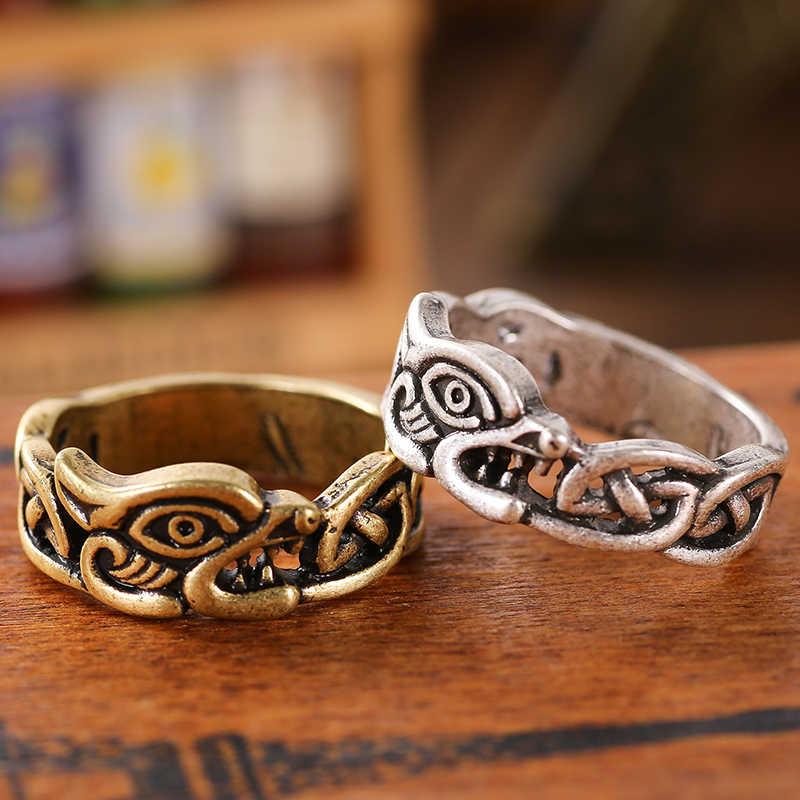 Anel Pagan Norse Viking runa jóias do dragão dos homens drop shipping 1 pc