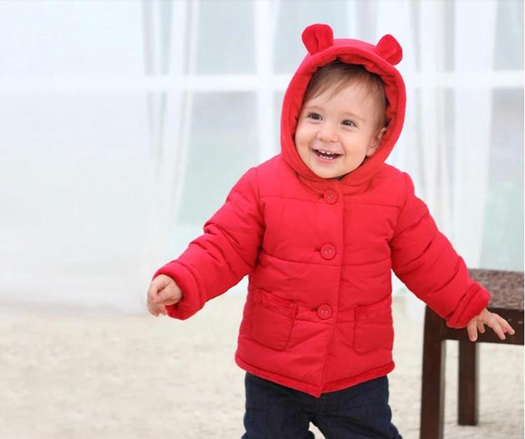 Winter Baby Snowsuit Warm Jackets & Coats Girls Designer Baby Clothes Branded Velvet Cute Bear Ear Overall Newborn Outerwear (16)