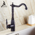 Free Shipping Wholesale And Retail Retro Black Bathroom Faucet Single Handle Deck Mounted Kitchen Vessel Sink Faucet AST1305