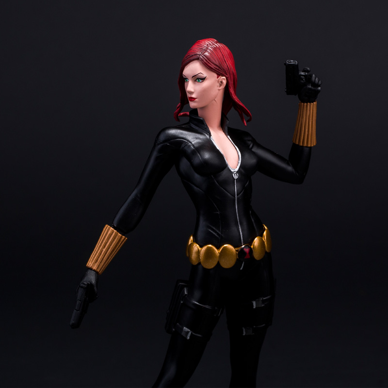23CM Marvel DC Movie Maquetas Black Widow The Avengers Action Figures PVC Resin Scale Model People Toys Collectibles resin kits 1 9 scale 1 9 200mm the orogs warlord soldiers resin model diy toys