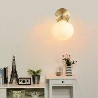 Скандинавские спальни прикроватная настенная лампа ручной работы ретро креативная личность простое зеркало для ванной фары LU8201641