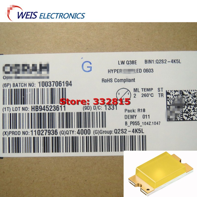 20PCS LWQ38E-Q2S2-4K5L LW Q38E CHIPLED 0603 White (0.3, 0.28) 36 Lm/W Colored Diffused Resin Free Shipping