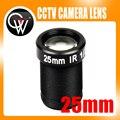 """5 unids/lote 1/2 """"5MP 25mm lente MTV Lente del Tablero del CCTV IR cámara CCTV Lente HD Montaje adecuado para 1/3"""" Cámara IP CCTV Cámara de Seguridad"""