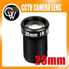 5pcs/lot 1/2″ 5MP 25mm lens CCTV Board Lens MTV IR CCTV Lens HD camera Mount suitable for 1/3″ CCTV IP Camera Security Camera