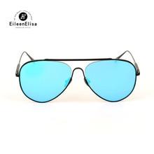 2017 High Quality Sunglasses Women Brand Designer Metal Frame Mirrored Lens Gafas Oval Style Sunglasses Unisex