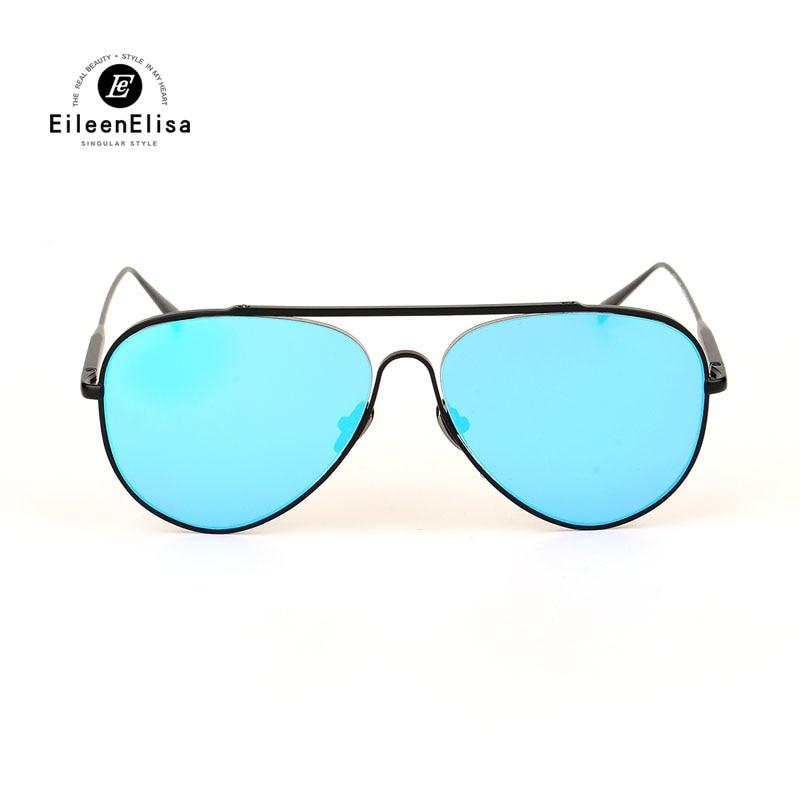 5f7396da6 2017 de Alta Qualidade Dos Óculos De Sol Das Mulheres Designer De Marca de  Metal Quadro Espelhado Lens Gafas Estilo Oval Óculos De Sol Unisex