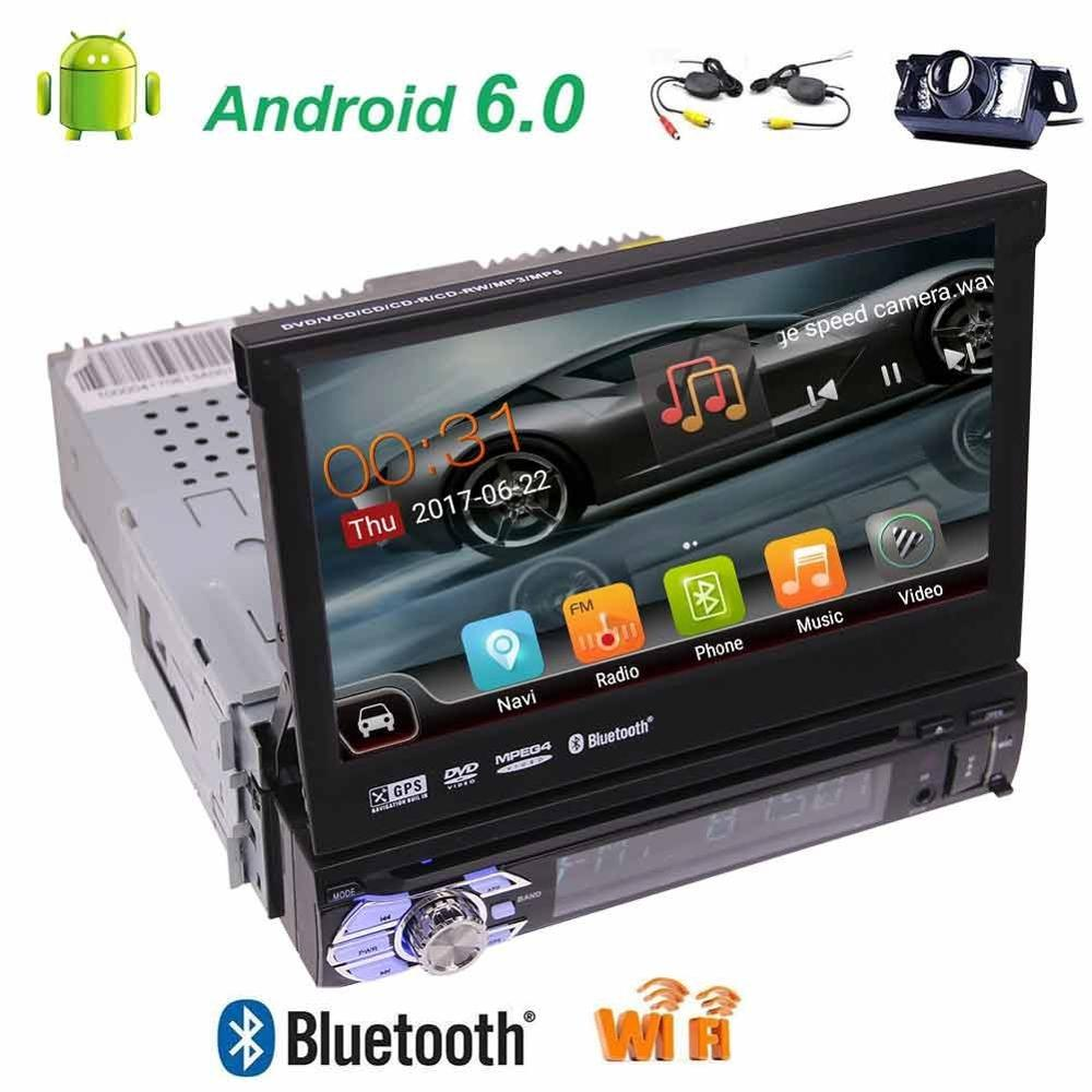 Free font b wireless b font camera Single din 7 inch LCD TFT Display gps car