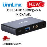 Unnlink USB3.0 Game Capture Karte Video Erfassen FHD1080P @ 60Hz Aufnahme Live-Streaming für PS3 PS4 xbox one 360 nintend schalter