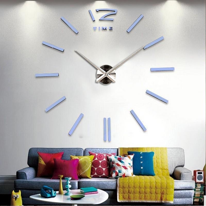 16 diy living room new acrylic quartz watch wall clock clocks reloj de pared home decoration hot Metal Sticker free shipping 5