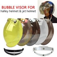 5 Colors Motorcycle Open Face Helmet Visor Vintage Bubble Shield Peak Lens SHield BV01