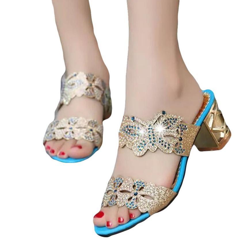 Detail Feedback Questions about mokingtop shoes woman sandals Women  Rhinestone Slippers Women Fashion Open Toe Shoes Bohemia high Heel Shoe     on ... 8b73eb22b378