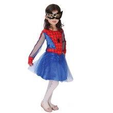 2017 NOVA Halloween Super Hero Spider Girl Cosplay Children'Day Masque homem Aranha Traje Do Estágio Do Partido Para Meninas Festa de Aniversário
