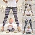 Moda Fresco Juego de Madre E Hija Ropa Mujeres Copo de nieve del Reno de Navidad Niñas Leggings Pantalones Delgados