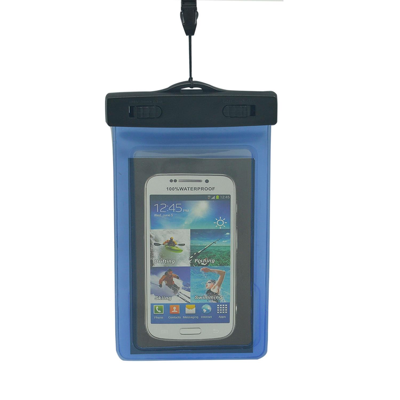 Tahan Air PVC Pouch Dry Bag untuk IPhone 4 S 5 S 6 Plus 6 S 6 S PLUS Samsung Galaxy S7 Edge S5 S6 Catatan 5 4 Ponsel Di Bawah 6 Inch (Clear) -Intl