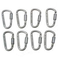 8 pces de alumínio d ring travando durável forte e leve grande mosquetão clipe conjunto para acampamento ao ar livre  casa  pesca  caminhadas |Ferram. atividade ar livre| |  -