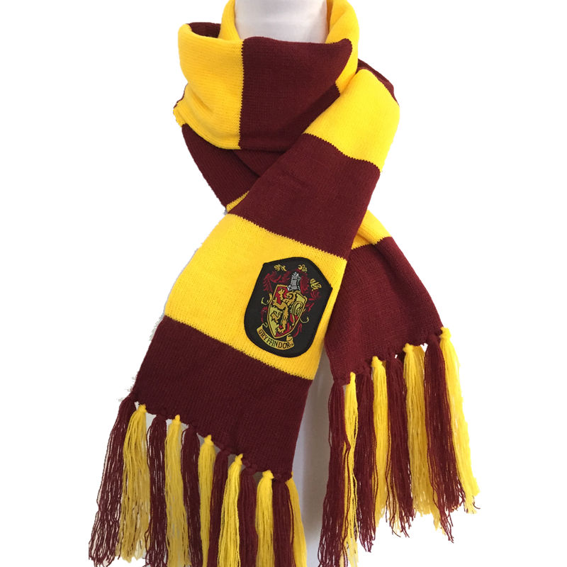 Ainiel Hermione Gryffindor Slytherin Hufflepuff Scarf Women and Men Winter long Scarves Cosplay Costumes For Kids Halloween