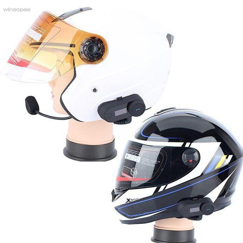 High Quality 1000M Bluetooth Motorcycle Helmet Inter phone FM Radio Intercom Water-proof and Sun-proof Headset winsopee
