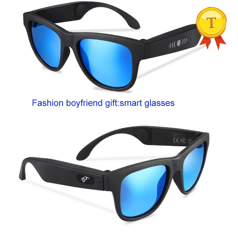Fashion long standby Music Play Wireless Bone Conduction Driving Sun Glasses eyeglasses Headset With colorful Polarized