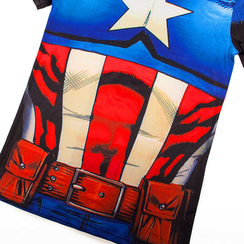691778f8f ... Captain America 3D Printed Jersey Mens Gym Fitness Compression Shirt  Cycling Sports Base Layer Marvel Superman