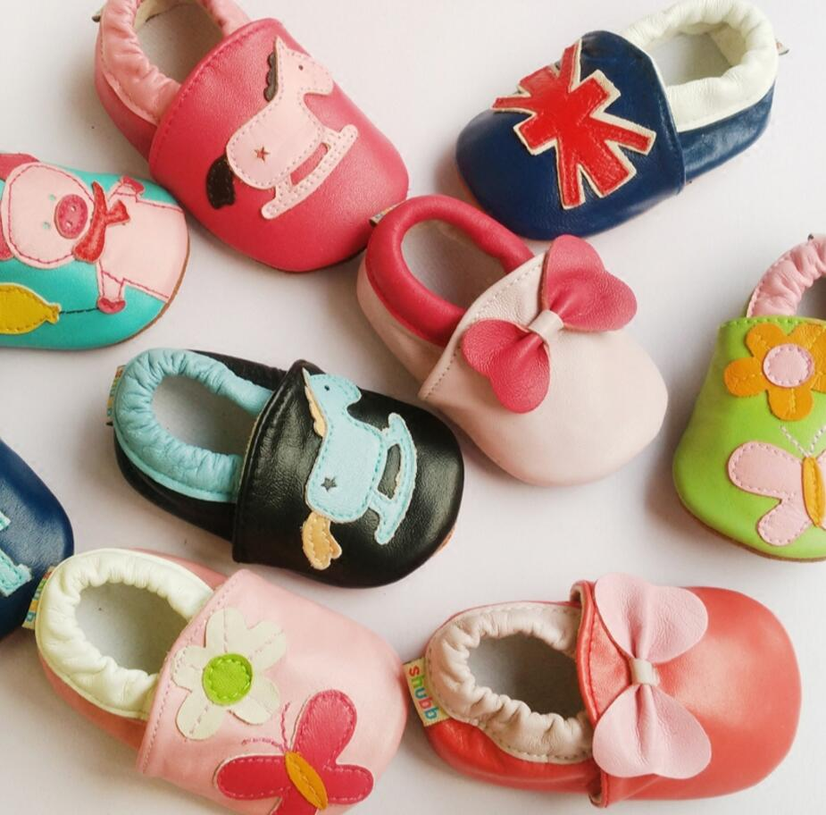 Baby Shoes Moccasins Infant Toddler Slippers Animal 35style Soft Baby-Boys-Girls Genuine-Leather