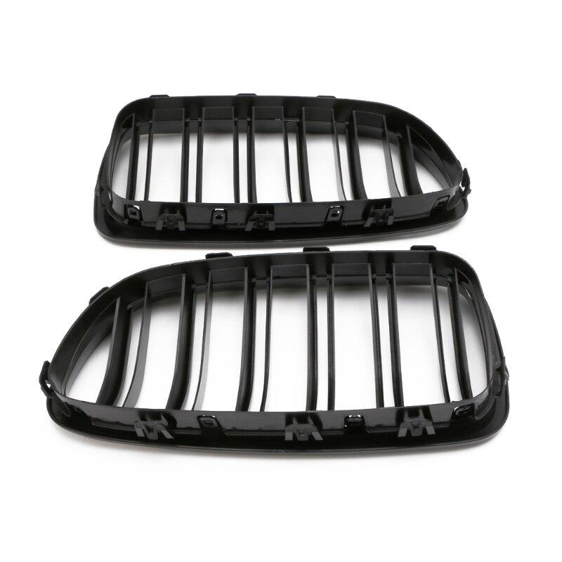 Grille de calandre noire brillante double ligne pour BMW F10 F11 F18 série 5 M5 - 4