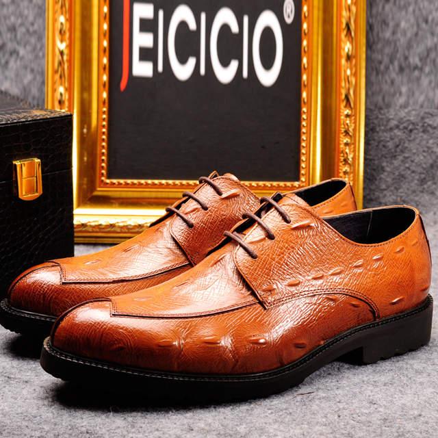 Z.suo New style 2018 Fashion Italian designer formal mens dress shoes  genuine leather black 68db4a0f4b97