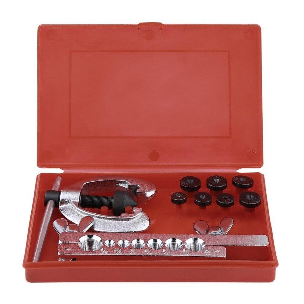 Tubing Bender Cutter Double Flaring Tool Kit 3 Way Brake Water Gas Line Plumbing Automotive Flare Repair Tool Set