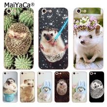 MaiYaCa для iphone 7 6 X чехол с милым животным маленьким ежиком чехол для телефона для iphone 8 7 6 6S Plus X 5 5S XS XR XSMAX