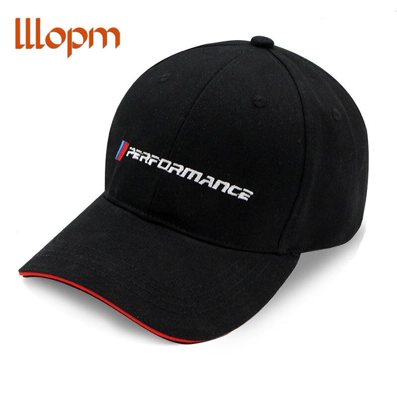 Mężczyźni moda bawełna samochód nowe logo wydajność kapelusz dla bmw M3 M5 3 5 7X1X3X4X5X6 330i Z4 GT 760li E30 naklejki samochodowe akcesoria