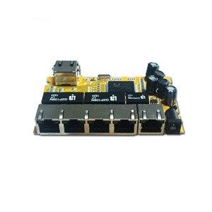 Image 3 - OEM/ODM PCBA תעשייתי מתג modulee5 יציאת 10/100/1000 M לא מנוהל רשת ethernet מתג ethernet רכזת מנוהל poe מתג