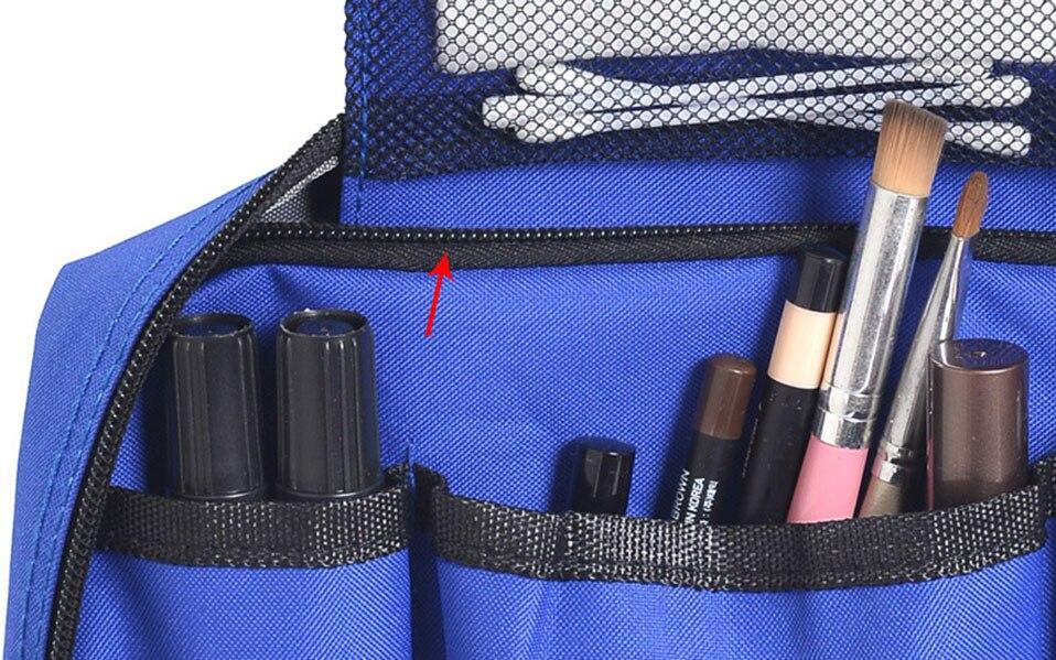 Hanging Travel Cosmetic Bag Women Zipper Make Up Bags Polyester High Capacity Makeup Case handbag Organizer Storage Wash Bag     (8)