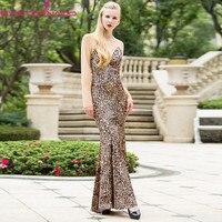 Plus size fake V neck sexy bodycon leopard velvet mermaid dress spring long bandage party ball formal boho dresses vestido