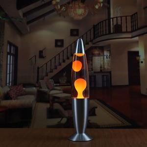Image 3 - Hoomall 1 pc 터치 스위치 테이블 용암 램프 장식 야간 조명 침실 책상 야간 램프 사무실 홈 장식