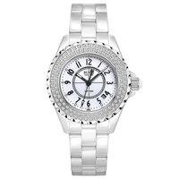 Буреи 18003 Швейцария часы женщины люксовый бренд J12 серии Австрия diamond Керамика календарь число белый relogio feminino