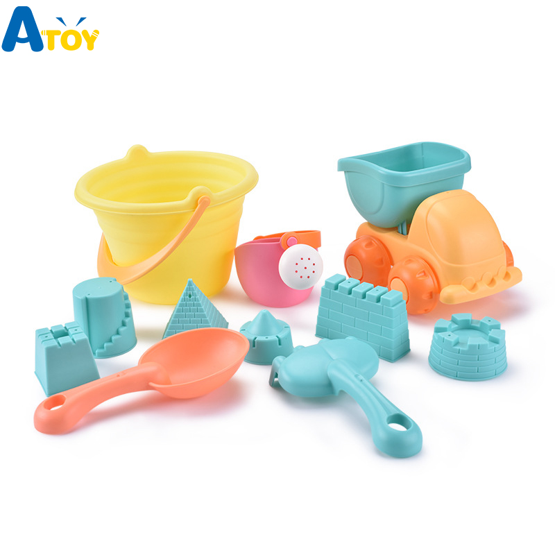 Beach Sand Toys For Children Sand Shovel Soft Silicone Water Fun Swimming Pool Baby Toys For Kids Bathroom Baby Shower Toys