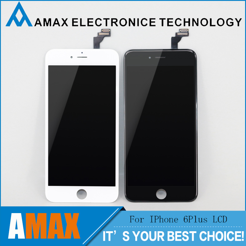 imágenes para 5 unids/lote para iphone 6 plus lcd 5.5 pulgadas con pantalla táctil digitalizador asamblea envío libre vía dhl