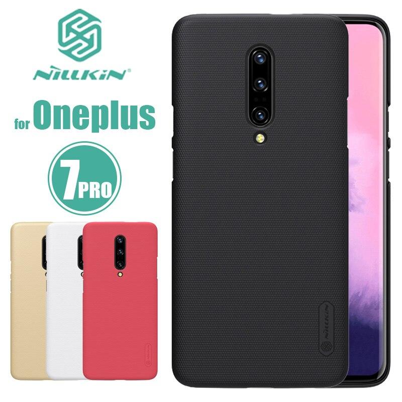 Para oneplus 7 pro 7 t caso nillkin super fosco escudo duro pc magro caso capa traseira para oneplus 7 pro 6 6 t 5 3 5 t telefone caso