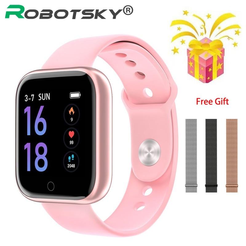 T80 Smart Watch Women Men Sports Fashion IP68 Waterproof Activity Fitness Tracker Heart Rate BRIM Smartwatch VS P68 P70 Bracelet