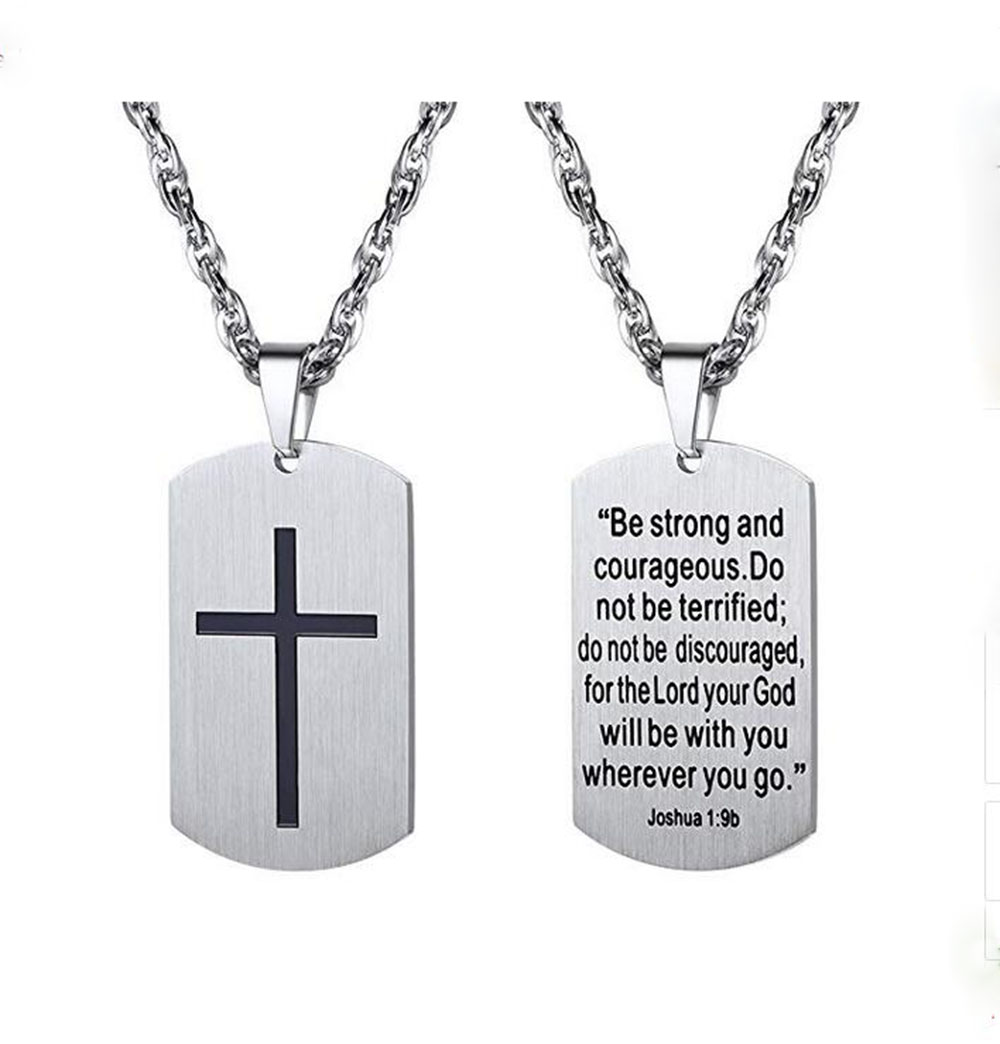Religious Dog Tag Necklace