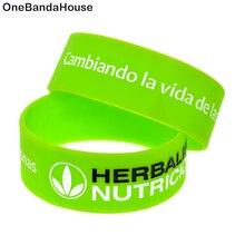OneBandaHouse, 1 шт., один дюйм, широкий, Cambiando la vida de las personas, силиконовый браслет, украшение, фитнес-браслет, спортивный браслет