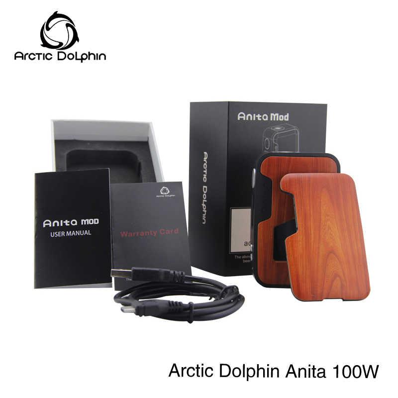 1 шт. новый продукт оригинальный Арктический Дельфин Анита 100 Вт Squonk BF мод Squonker бутылка 5-100 Вт OLED экран TC электронная сигарета Vape коробка мод