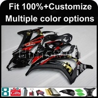 8Gifts Injection Mold Black Matte Glossy Red Article ZX10R 2011 2012 ABS Motorcycle Fairing For Kawasaki