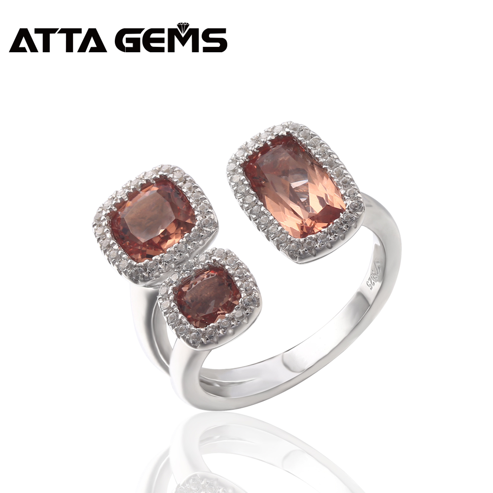 Sultanite Sterling Silver Rings Unisex Design 7 Carats Faced Created Sultanite Stone Color Changes Special Style Design For Gift