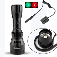 UniqueFire 1407 Cree Q5 Tactical Led Flashlight 3 Mode IP65 Waterproof Material Lamp Torch Remote Pressure
