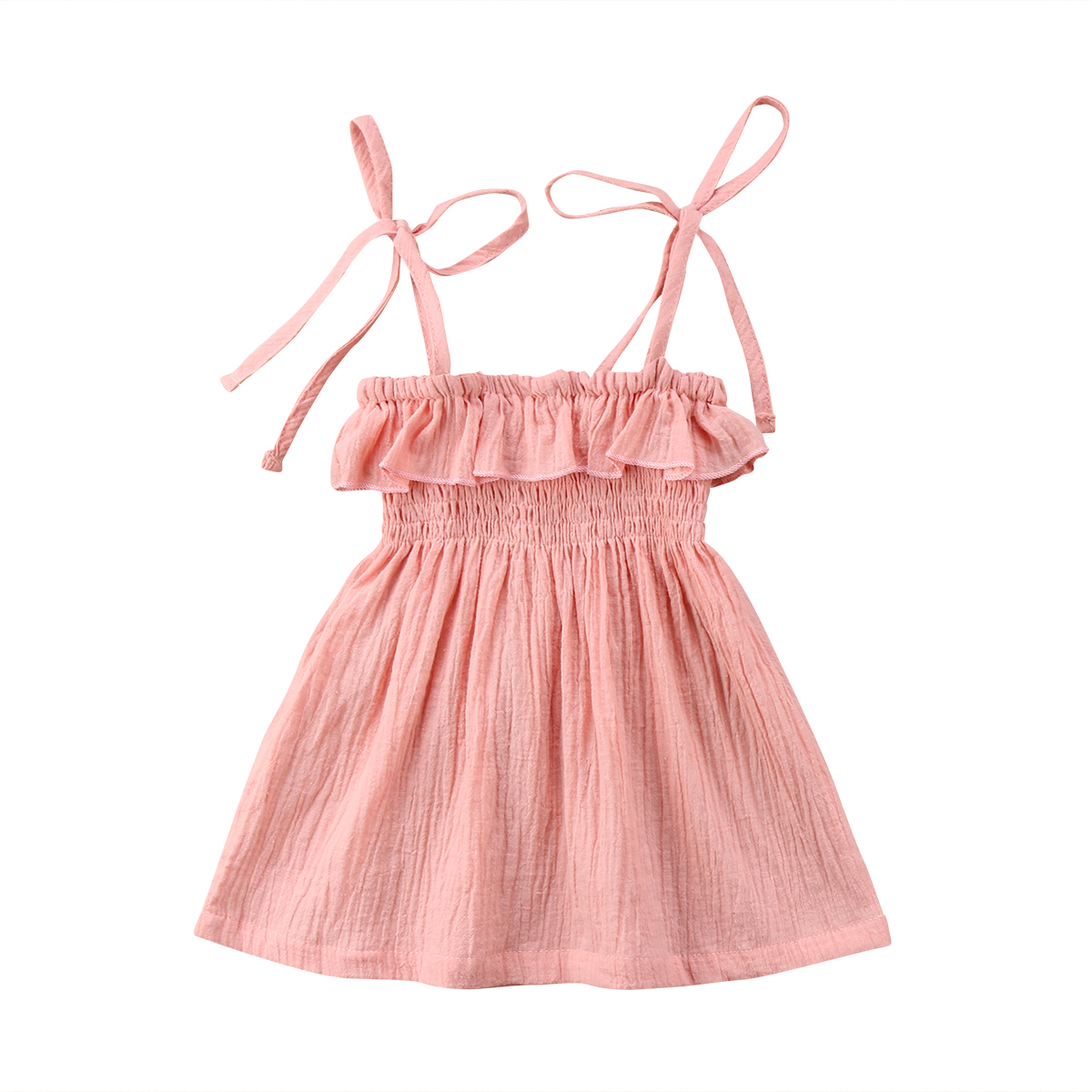US 2pcs Newborn Kids Baby Girls Flower Party Dress Pageant Princess Gown Dress